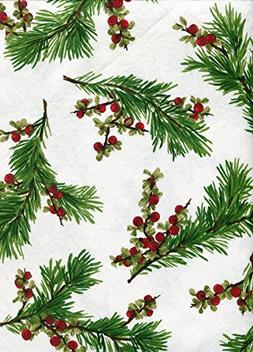 cedarberry white tablecloth