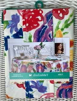 """Pioneer Woman """"Celia"""" Spring Tablecloth 70"""" Round New!"""