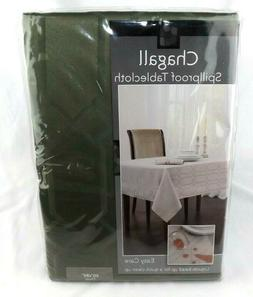 Chagall Benson Mills Oval Spillproof Fabric Tablecloth Green