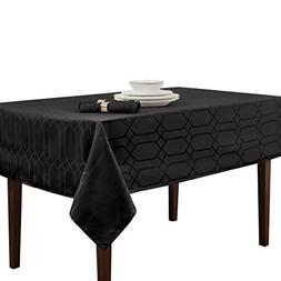 Benson Mills Chagall Spillproof Tablecloth,Black,60 X 140