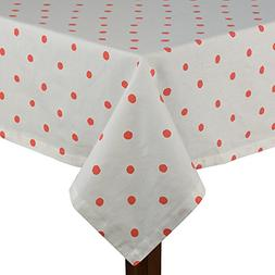 Kate Spade Charlotte Street Hot Coral 60x120 Tablecloth