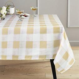 Lahome Checkered Tablecloth - Spillproof Water Resistant Pol