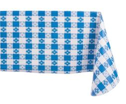 Yourtablecloth Checkered Vinyl Tablecloth with Flannel Backi