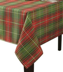 Benson Mills Christmas Plaid Printed Tablecloth, 60-Inch by
