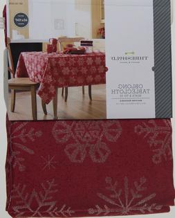 Christmas Threshold Red Jacquard with Snowflakes 60x104 Oblo