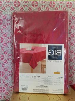 The Big One Christmas Red Poinsettia Tablecloth 60 in × 84