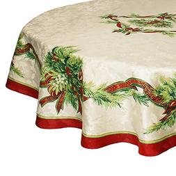 Benson Mills Christmas Ribbons Tablecloth