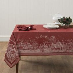 Benson Mills Christmas Story Engineered Jacquard Fabric Tabl