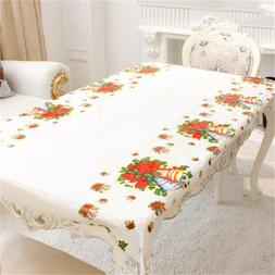 Christmas Tablecloths Home Kitchen Dining Table Decor Xmas
