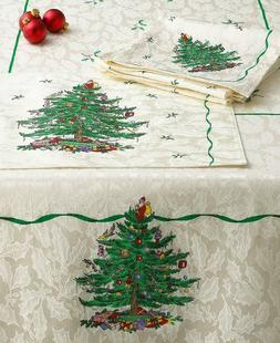 Spode Christmas Tree Tablecloth Multi Color / Ivory Assorted