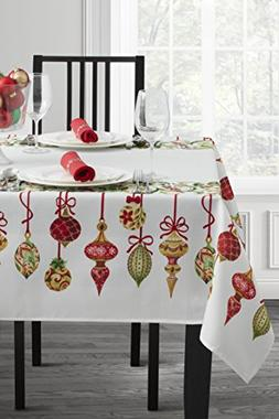 Benson Mills Christmas Village Fabric Printed Tablecloth