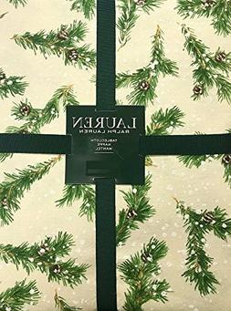 Ralph Lauren Christmas Winter Holiday Tablecloth - Snowy Pin
