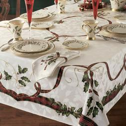 Lenox Christmass Holiday Nouveau 60 X 84 Rectangle Tableclot