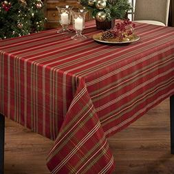 Benson Mills Christmasville Metallic Fabric Tablecloth, 60-I