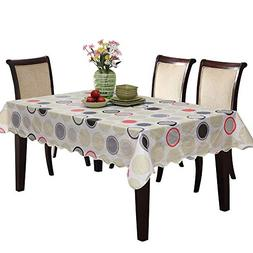 UFRIDAY Circle Pattern Flannel Tablecloth 60 x 90-Inch for R