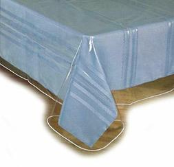 """Clear Plastic Table Cloth Cover Spills Protector 60""""x90"""" Siz"""