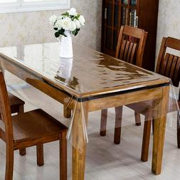 Clear Plastic Tablecloth PVC Transparent- Perfectly Protect