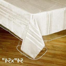 """Clear Plastic Vinyl 54x54"""" TABLECLOTH Protector Table Cover"""