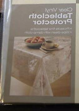 CLEAR Vinyl Tablecloth  Protector  BRAND NEW 52 x 70 in US S