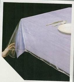 Clear Vinyl Tablecloth Spill Proof Table Cover Thick Plastic