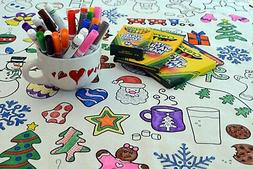 The Coloring Table - Colorable Holiday Tablecloth - XL