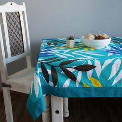 Colorful Multicolor Cotton Spring Floral Tablecloths For Din