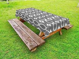 Contemporary Outdoor Picnic Tablecloth in 3 Sizes Washable W