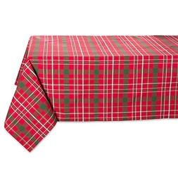 Tartan Holly Plaid Square Tablecloth, 100% Cotton with 1/2""