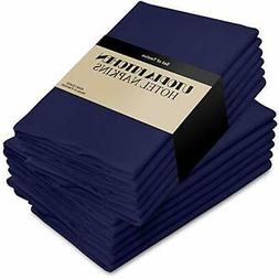 Cotton Dinner Napkins Navy-Blue - 12 Pack 18 inches x18 inch