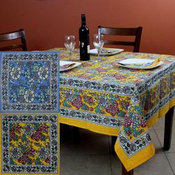 Cotton French Country Floral Tablecloth Square Napkin Table