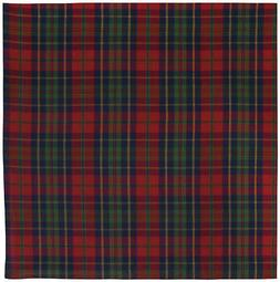 "100% Cotton Red Blue & Green Plaid 60""x60"" Tablecloth - Marl"