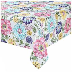 Celebrate Country Cottage Spring Flower Garden Woven Tablecl