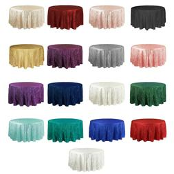 Crinkle Taffeta Tablecloth for Round Tables, Crushed Table C