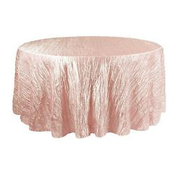Your Chair Covers Crinkle Taffeta Tablecloths, Round, Blush