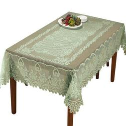 Crochet Lace Floral Tablecloth for Dining Room Accent or Lay