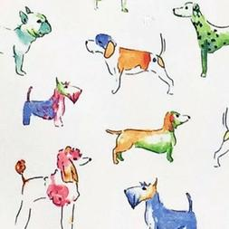 Cynthia Rowley Colorful Watercolor Dog Tablecloth Indoor Out