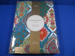 CYNTHIA ROWLEY PAISLEY TABLECLOTH FLORAL MEDALLION GREEN AQU