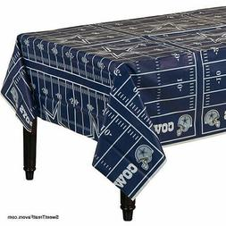 DALLAS Cowboys Football Tablecloth Tablecover Party NFL Birt