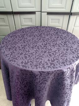 Damask Tablecloth rectangle poly blend 5 sizes 7 colors whit