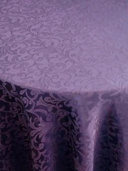 OVAL Tablecloth DAMASK cotton blend 5 sizes vintage style 7