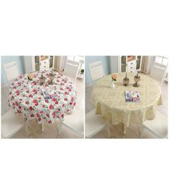 Decorative Round Tablecloth 150cm 60inch Plastic Table Cover