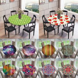 "Decorative Tablecloths 47"" or 59"" Round Elastic Fitted Table"