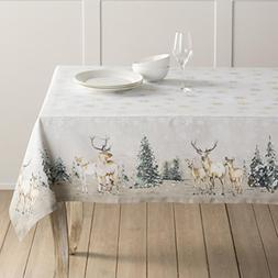Maison d' Hermine Deer in The Woods 100% Cotton Tablecloth 5