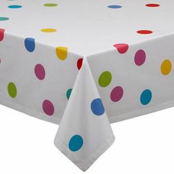DII Design Imports Tablecloth Confetti Dots 52x52 Square Par