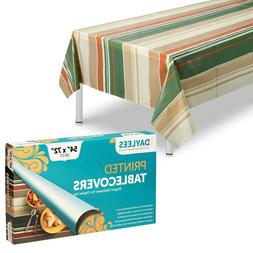"""Disposable party tablecloths plastic 54"""" X 72""""  for rectangl"""