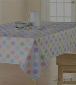 Easter Spring Celebrate Together White Polka Dot 60x120 Oblo