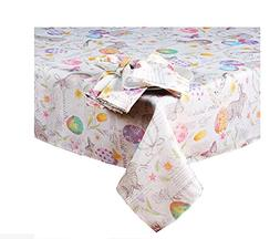 Newbridge Easter Wishes and Blossoms Print Fabric Tablecloth