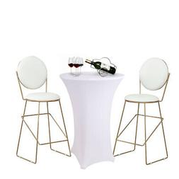 Elastic Polyester Round Tablecloths Stretch Spandex Table Co