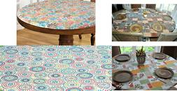Elasticized Tablecloths Table Cover Fitted Cover Coffee Oliv
