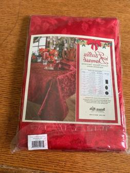 """Elegance Holiday Cloth By Benson Mills Red Tablecloth 60"""" x"""